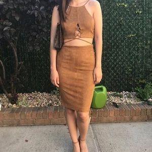 Tan suede dress